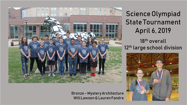 Science Olympiad Team Competes At State!