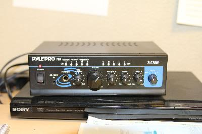 Photo of legacy audio amplification system in classrooms.