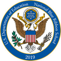 National Blue Ribbon School logo by US Department of Education 2019