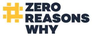 Graphic logo for Zero Reasons Why campaign to prevent teen suicide