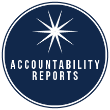 Oval graphic with the words Accountability Reports.