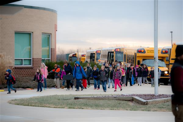 Photo of students during dismissal