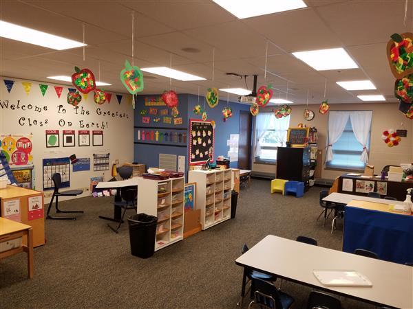 Photo of typical early childhood classroom