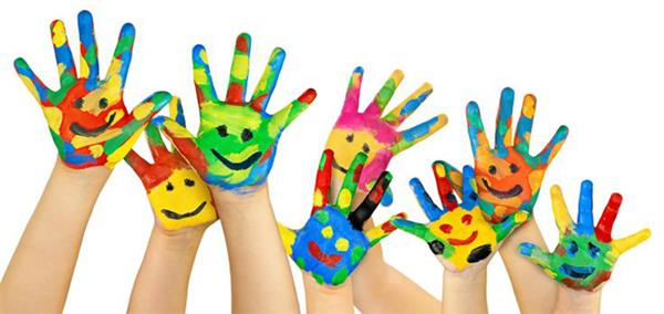 Image of Painted Hands of Children