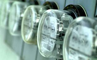 Photo of electric meters.